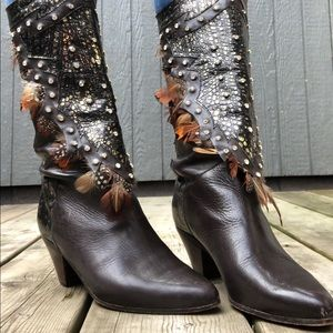 Vintage 80's leather boots 7